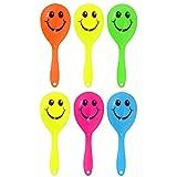12 x Mini Smiley Maracas by Henbrandt
