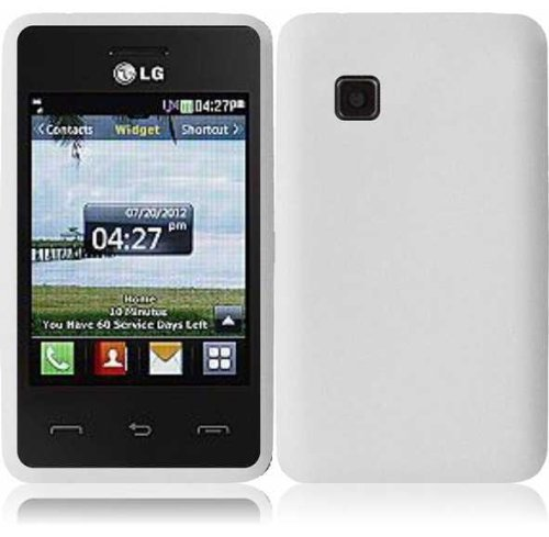 For LG 840G LG840G Silicone Jelly Skin Cover Case White Accessory (Lg 840g Jelly Case)