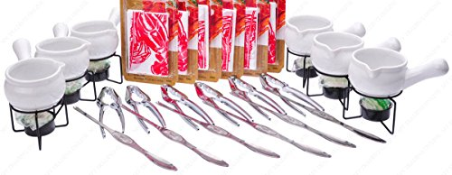 Two Tine Butter Pick - 24 Pieces Ultimate Seafood Package Set Kit All You Need for Seafood Dinning Feast
