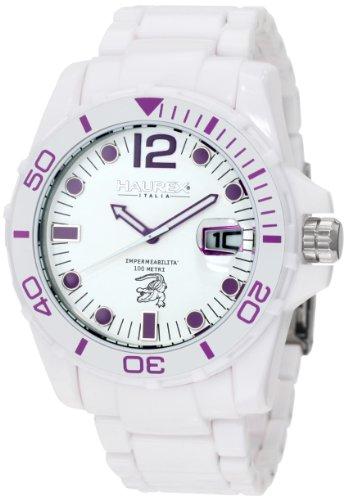 Haurex Italy Men's W7354UWP Caimano Date White Dial Plastic Sport Watch by Haurex