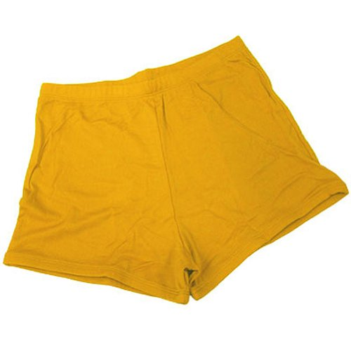 100 % Stretch Nylon Cheerleading Boy-Cut Brief Trunks, YS, Bright Gold (Cut Cheerleading Briefs Boy)