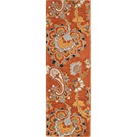 Rug Source Hand-Tufted Oushak Agra Indian Oriental Rug Paislay 6-8 Ft Runner for Stairs