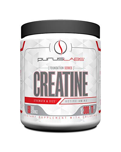 Purus Labs Foundation Series Creatine | 100% Ultra Pure Micronized Creatine for Strength, Mass, Power, Recovery | 60 Servings | Unflavored