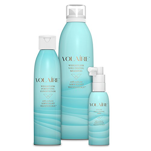 Volaire Volumizing Hair System Shampoo (10.5 oz), Conditioner (8oz) and FREE Uplift Volumizing Mist (2oz) – Add Volume, Bounce, Body Lift, Sulfate Free, Paraben Free, Safe for Color Treated (Volumizing System)