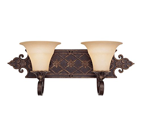 UPC 822920204388, Savoy House 8-0160-2-76 Bath with Cream Textured Shades, Florencian Bronze Finish