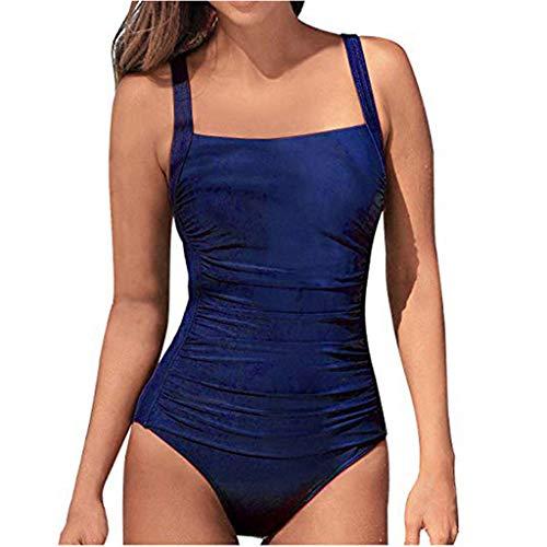 [해외]테 신 여성의 빈티지 패드 푸쉬 업 원피스 수영복 배 컨트롤 수영복 플러스 사이즈 수영복 / Thenxin Women`s Vintage Padded Push up One Piece Swimsuits Tummy Control Bathing Suits Plus Size Swimwear