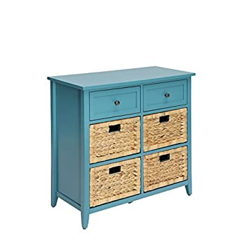 Image of ACME Flavius Console Table - 97418 - Teal Home and Kitchen