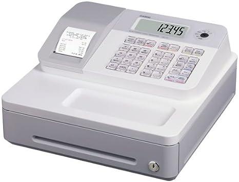 Casio SE-G1SB-WE - Caja registradora (cajón pequeño/grande, impresora, pantalla LCD), color blanco: Amazon.es: Oficina y papelería