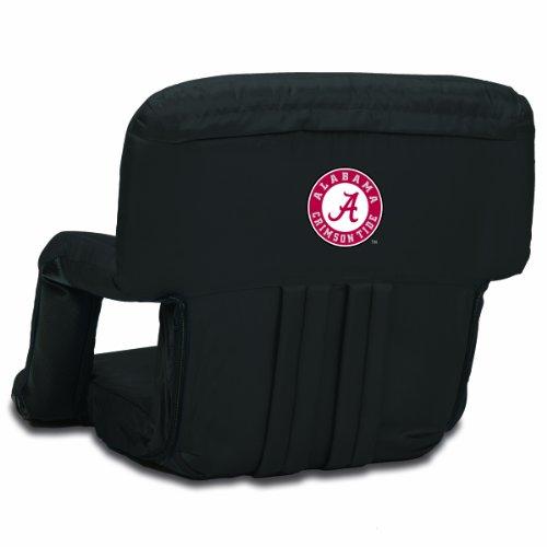PICNIC TIME NCAA Alabama Crimson Tide Ventura Portable Reclining Seat, Black