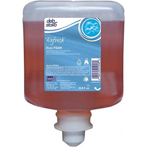 Deb Refresh Rose Foam Hand Soap, 1000ml, Box of 3 - RFW1L by DEB