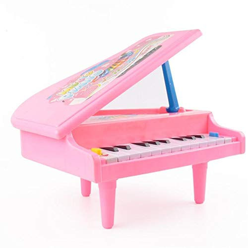 Polymer Musical Toys Baby Education Mini Cartoon Piano Model Music Toy(Pink) by Polymer