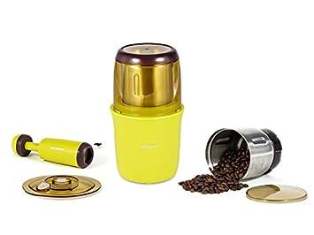 Oursson OG2075/OR Multifunktionale Mü hle, Kaffeemü hle, Gewü rzmü hle, 200 W, 75 g Bohnenbehä lter, orange