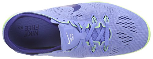 NikeFree 5.0 TR FIT 5 - Zapatillas Deportivas para Interior Mujer Azul (Chlk Bl / Dp Ryl Bl-Ghst Grn-Whi)