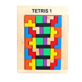 F-blue Children Educational Toys Colorful Wooden Brain-Teaser Puzzle Adult Intelligence Wood Variety Puzzle Toy Kids Gift