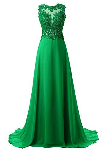 Mujer de Vestido Verde Encaje Largos Coctel Elegantes Callmelady de Noche Vestidos de Fiesta wWPSq