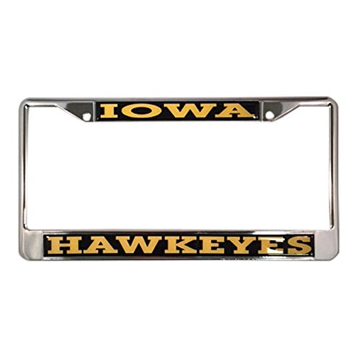 University of Iowa License Plate Frame/Tag For Front Back of Car Officially Licensed (Regular - Metal Frame)