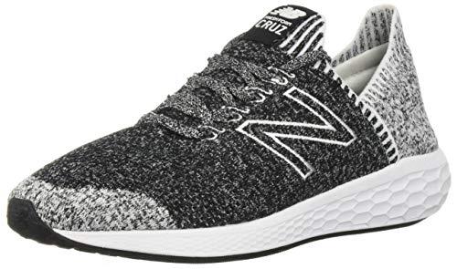 New Balance Men's Cruz V2 Sockfit Fresh Foam Running Shoes, Black/White, 10.5 M US