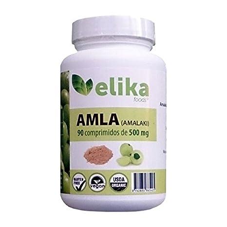 AMLA orgánica/ bio-90 comprimidos 500 mg a base de polvo- ortalecimiento del