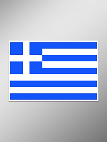 - NI879 Greece Flag Decal Sticker | 5-Inches By 2.8-Inches | Premium Quality Vinyl Decal
