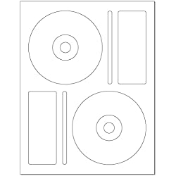 Memorex CD/DVD Label, 2 per Page (250 Labels / 125 Sheets)