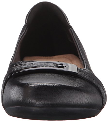 Women's Leather West Blanche Clarks Black Ballet Flats aqFn1