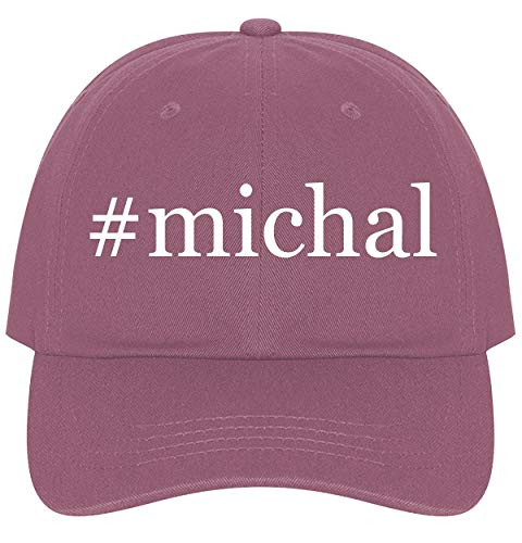 The Town Butler #Michal - A Nice Comfortable Adjustable Hashtag Dad Hat Cap, Pink