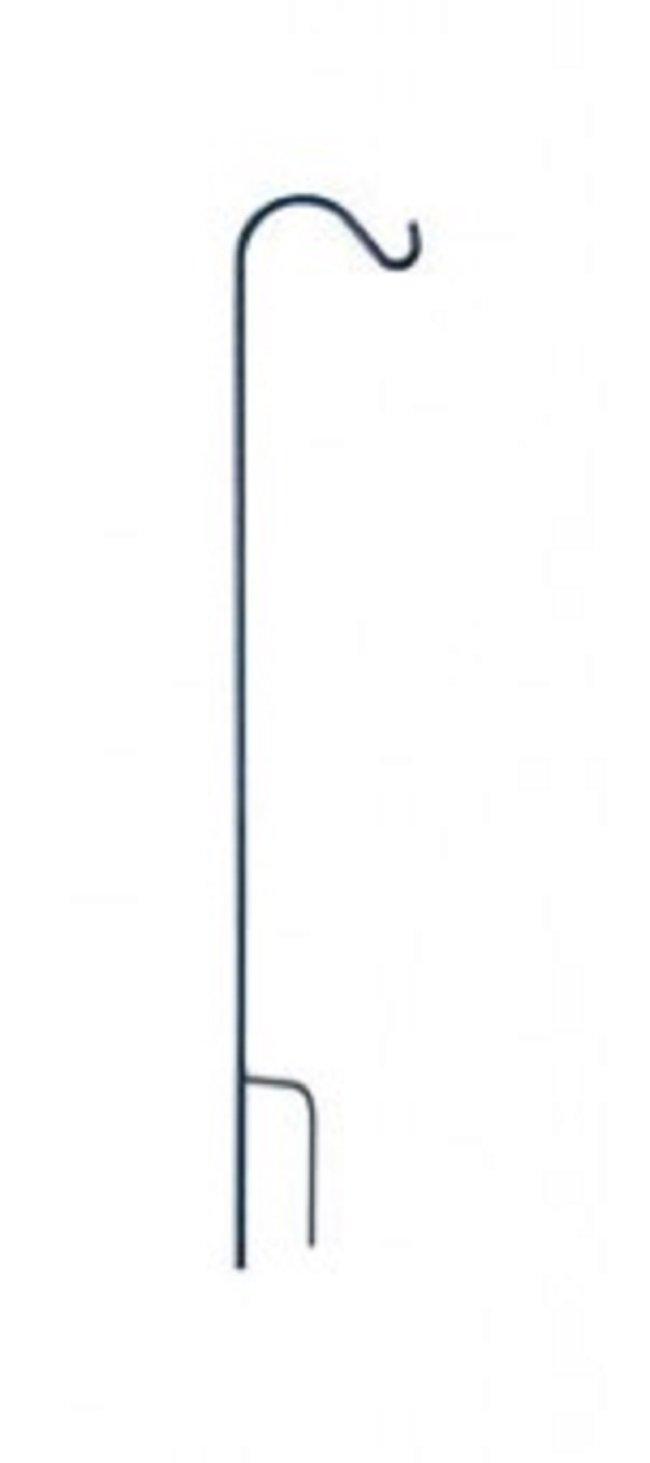 Panacea 89141 Single Shepherd's Display Hook, 70'' H, Black