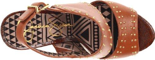 M pour Light B US Jessica womens EU Sandales Simpson Luggage femme UK multicouleur Medium qxvAgw