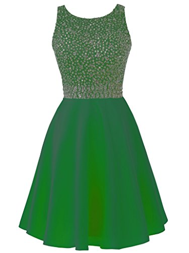 Solovedress Beaded Dress Satin Gown Dress Evening Prom Green Gown Party Women's Homecoming Short raqwrR