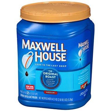 Maxwell House Ground Coffee, Original Roast (42.5 oz.)-2 PACKS