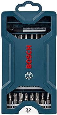 Kit de Pontas Bosch Mini X-Line para parafusar com 25 unidades