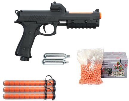 JT ER2-S Pump Paintball Pistol Kit - Black With Paintballs Package