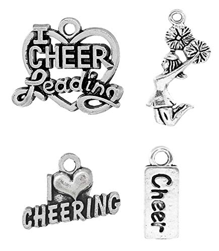 Cheerleading Charms, Cheer and School Spirit 120 Pieces Mix Lot - Love -