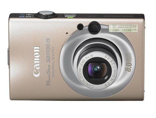 Canon PowerShot SD1100IS 8MP Digital Camera with 3x Optical Image Stabilized Zoom (Canon Powershot Sd1100 Is Digital Elph Camera)