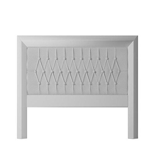 Blanc T/ête de lit en Bois /écologique Praga 155 x 135 x 4 Sleepens