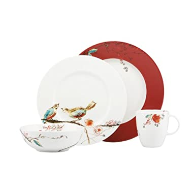 Lenox Simply Fine Scarlet Chirp 4-Piece Place Setting