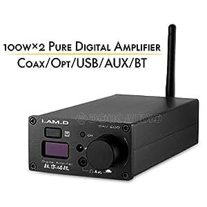 Amplificador de Potencia HiFi con Bluetooth, estéreo, USB ...