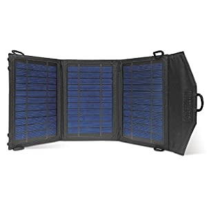 Instapark 10 Watt Solar Panel Portable Solar Charger with Dual USB Ports for iPhone, iPad & all other USB Compatible Devices