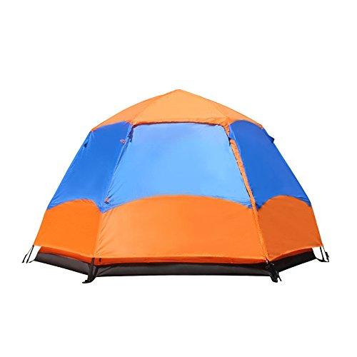 加速度集団暖かくポップアップテント、自動的にテントを開く、2-3-5-7人々、六角形の二階建て、ファミリーキャンプテント、スポーツとアウトドアアクティビティ、防寒キャンプとハイキングテントFyxd (色 : 1)