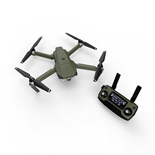 Solid State Olive Drab Decal for Drone DJI Mavic Pro Kit - Includes Drone Skin, Controller Skin and 3 Battery Skins - Three Olives Bubble