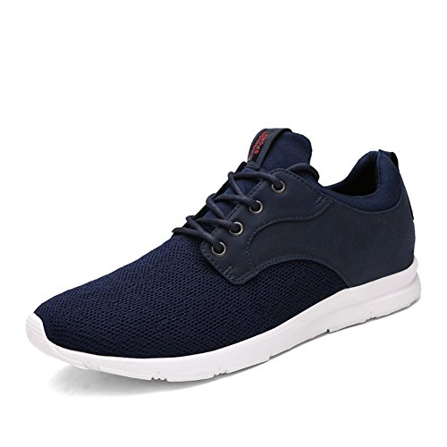 Earsoon Running Shoes Men Tennis Shoes - 2018 Winter Spring Series J-YD17014 for Jogging Walking Athletic Shoes Outdoor Shoes, Heavy Duty (44 M EU / 10-10.5 D(M) US, Blue2)