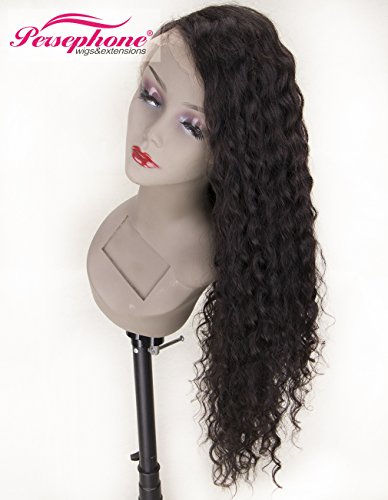 Persephone Real Looking Pre Plucked 360 Lace Wig with Baby Hair 150% Density Brazilian Curly Lace Front Human Hair Wigs for Black Women 14inches Natural Brown Color by Persephone Lace Wig (Image #5)