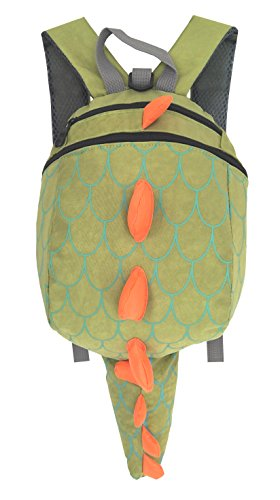 's Cute Dinosaur Anti-lost Safety Harness Backpack (Green) (Kids Dinosaur Backpack)