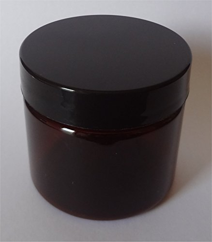 2-oz Amber Jars with Smooth Black Caps [Set of 8]