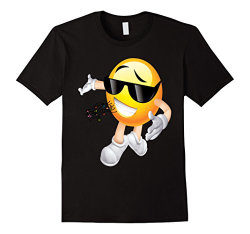 Mens MC DJ Emoticon T Shirt Medium Black (Pitch Perfect Costume Ideas)