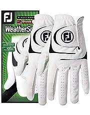 FootJoy WeatherSof - Guantes de Golf para Hombre, 2 Unidades, Blanco