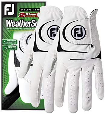 FootJoy Mens WeatherSof Gloves White