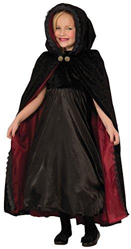 Forum Novelties Kids Gothic Vampiress Cape Costume, Black, One Size
