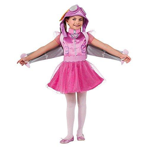 Paw Patrol Rubies Costume Toddler Skye Child Costume, Pink (3t-4t)