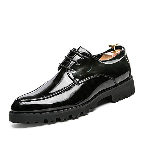 Pinnacle Color Stringate pelle Dimensione Fashion British 2018 Nero Xujw Men's in shoes scarpe respira lavoro da Basse Scarpe Casual Oxford Nero EU Personality le verniciata 43 FqxRU0